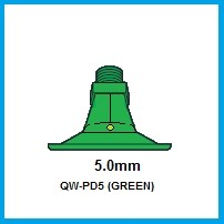 2- PD5 (GREEN) POLY NOZZLE