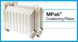 FACET PLATE PACKS FOR COALESCING OIL IN WATER
